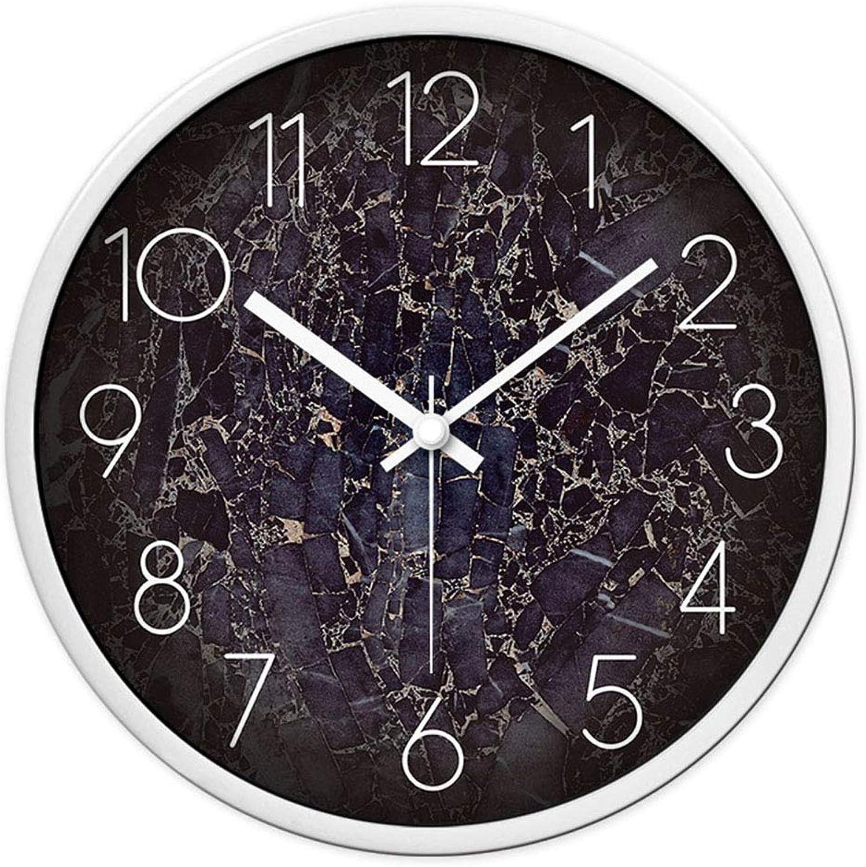 bienvenido a elegir XIUXIU Creatividad Minimalista Moderna con Estilo Personalidad Atmósfera Atmósfera Atmósfera Reloj Dormitorio silencioso Oficina Escuela Salón Decoración Reloj de Parojo (Color   blancoo, tamao   35X35cm)  marca