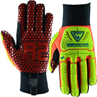 West Chester Large Black R2 Evolution Synthetic Leather Full Finger Mechanics Gloves With Neoprene Cuff - 72 Pair/Case