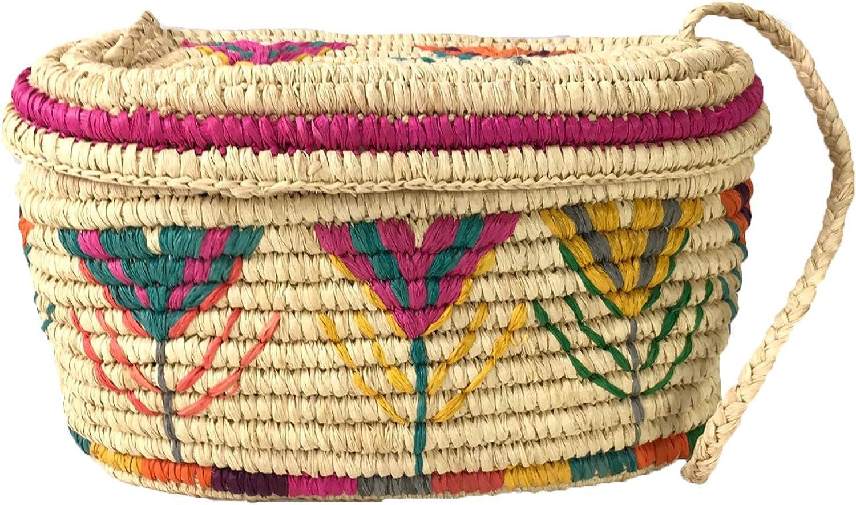 Mar Y Sol Esmerelda Woven Raffia Basket Shoulder Bag, Natural