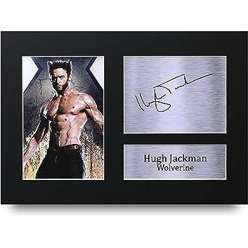 HWC Trading Hugh Jackman A4 Sin Marco Regalo De Visualización De Fotos De Impresión De Imagen Impresa Autógrafo Firmado por Wolverine X-Men Los Aficionados Al Cine