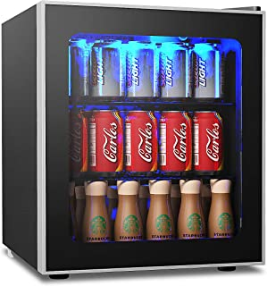 TANGKULA 46L Capacidad Mini Refrigerador 60 Latas con Puerta
