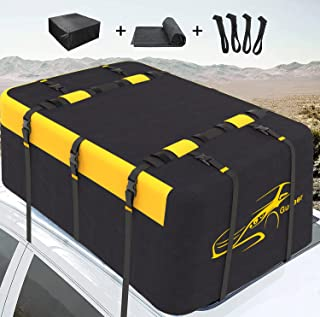 Gudeer Rooftop Cargo Carrier Vehicle, Car Top Carrier, 20 Cubic Feet Roof Bag Super Waterproof 900D Oxford Cloth, with Ant...