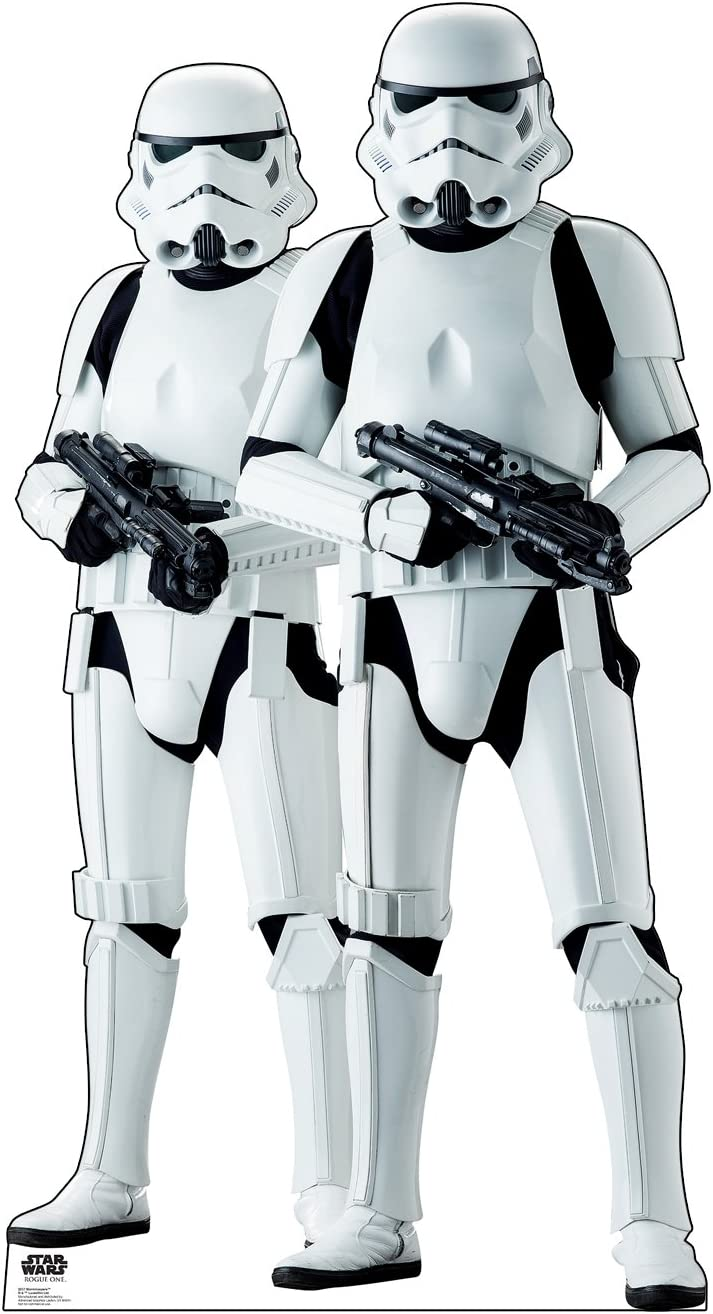 Cardboard Max 44% OFF People Stormtroopers Life Standu Limited price Size Cutout