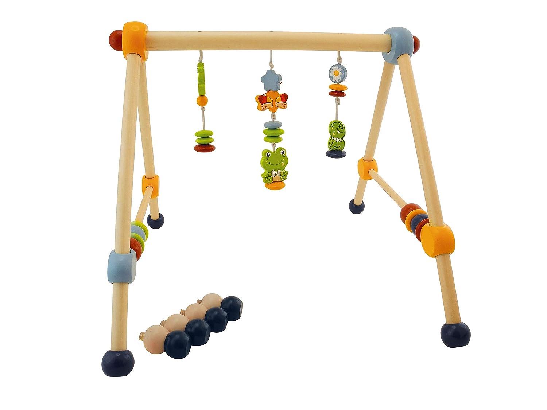 Mobile Holz Spielebogen Holz Baby Rasseln und Kugeln Spielbogen f/ür Babys mit Figuren Spieltrapez Holz Activity Center Baby Bieco Spieltrapez Schaf Spielbogen f/ür Babys Holz Baby Gym