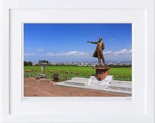 【写真工房アートフォト 額装写真】 さっぽろ羊ヶ丘展望台/北海道 札幌市(ホワイト 大判サイズ 557mm×442mm)
