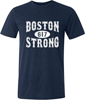 Go All Out Adult Boston Strong 617 Triblend T-Shirt