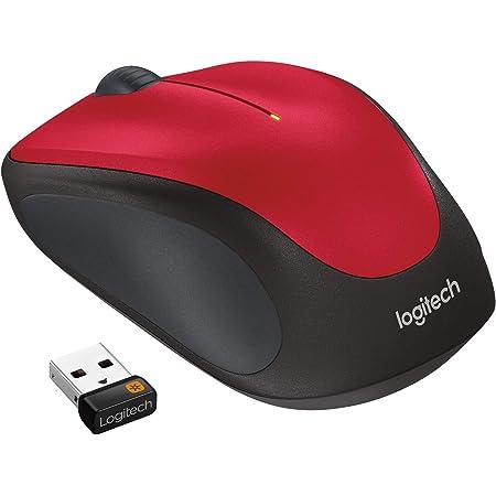 Logitech M235 Mouse Wireless, 2.4 GHz con Ricevitore USB Unifying, Rilevamento Ottico 1 000 DPI, Lunga Durata Batteria 12 Mesi, PC/Mac/Laptop, Rosso (Ottico)