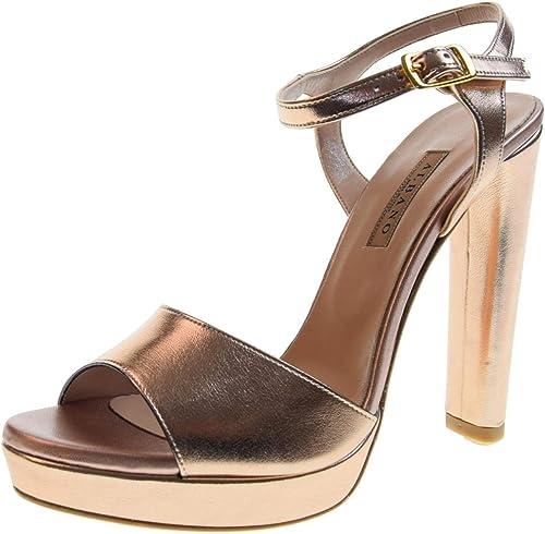 Sandalen Damenschuhe Albano hohem mit Kupfer 2176 Absatz