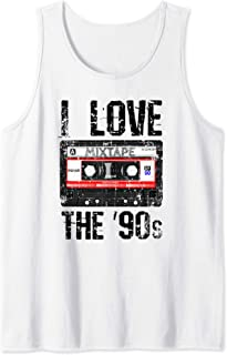 I Love The 90s Mixtape Shirt Vintage Quote Music Lover Gift Tank Top