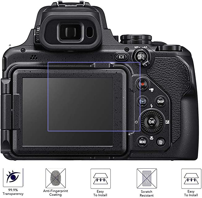 Disscool - Protector de Pantalla de Cristal Templado para Nikon Coolpix P1000 033 mm de Grosor con Cristal Real