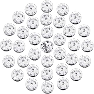 ThreeBulls 30 Pcs Silver Comfort Fit Butterfly Clutch Metal Pin Backs Replacement (Silver)