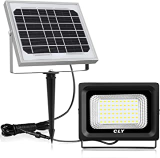 CLY Solar Lights Outdoor, 60 LED Solar Flood Lights, 300 Lumen, IP66 Waterproof, Auto-Induction, Easy-to-Install Security Floodlight for Lawn, Garden,Yard,Front Door