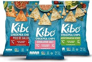 Kibo Chickpea Chips - Plant-based, Gluten Free, Non-GMO, Kosher. Variety Pack, 1 oz. 12 pack.