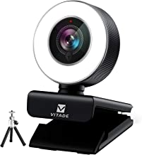 Webcam 1080P with Ring Light, Vitade 960T Pro USB HD PC Web Camera Video Cam for Streaming Gaming Conferencing Mac Windows...