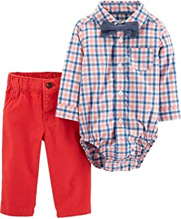 3-Piece Dress Me Up Set for Boys Size 18 Months Red Orange