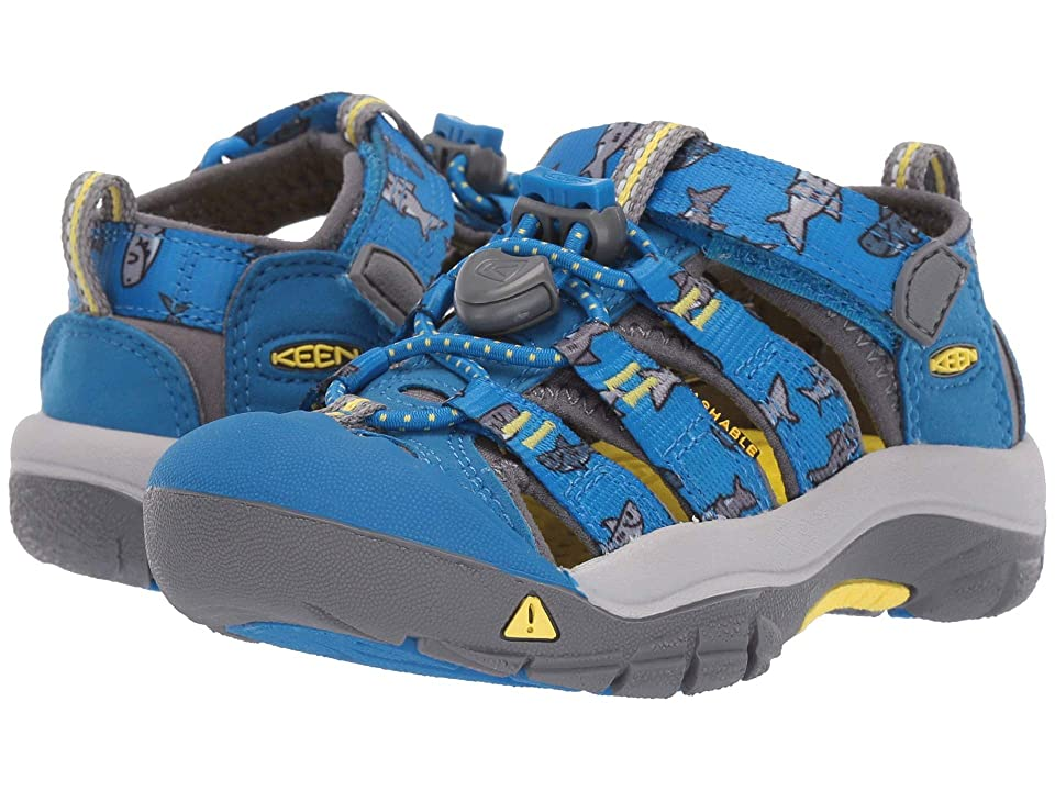 Keen Kids Newport H2 (Toddler/Little Kid) (Vibrant Blue Sharks) Boys Shoes