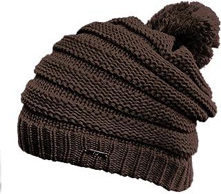 NYFASHION101 Stylish Unisex Solid Color Warm Acrylic Knit Beanie w/Top Pom Pom