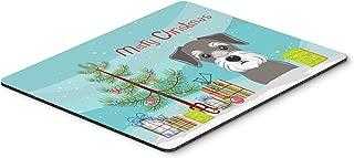 Caroline's Treasures Christmas Tree & Schnauzer Mouse Pad, Hot Pad or Trivet, Multicolor (BB1578MP)