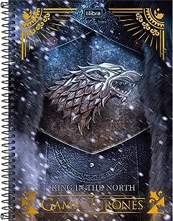 Caderno de 01 Matéria Capa Dura, Tilibra, Game Of Thrones, 14.664, 1 Matéria, Capas Sortidas, Pacote com 4 Cadernos