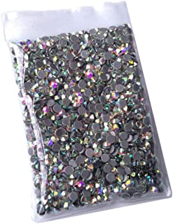 Queenme 1440pcs AB SS20 Hotfix Rhinestones 20SS Flatback Crystals for Clothes Shoes Crafts Hot Fix 5MM Round Glass Gems Stones Flat Back Iron on Rhinestones for Clothing
