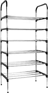 Zapatero de 6 niveles | Gabinete de calzado ligero | Unidad de almacenamiento de metal | Almacenamiento de calzado | Estantería | No se requieren herramientas | Pukkr