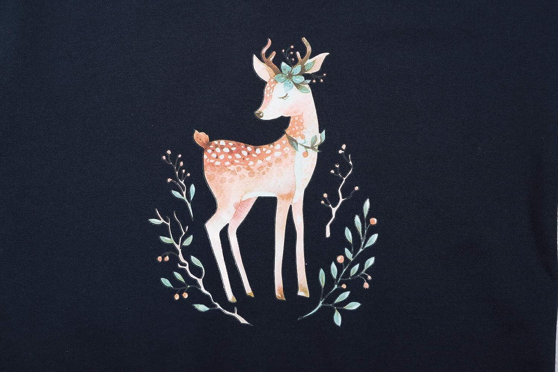 BONNY BILLY Sweatshirt Fille Sweat T-Shirt Imprim/é Coton Automne Hiver V/êtements Fille Manches Longues