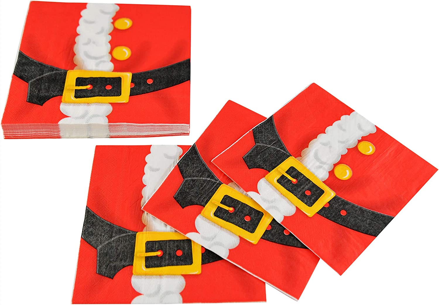 HOME-X OFFicial store Santa Claus Jacket Paper Napkins Gifts - in 6.5 Xmas L