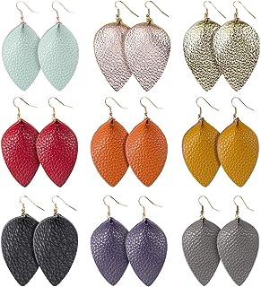 Vintage Rose Cork Leather Boho Dangle  Teardrop Earrings  Leather Earrings  Leather Teardrop Earrings  Valentine/'s Day  Vintage Earring