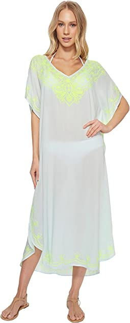 Echo Design - Embroidered Maxi Caftan