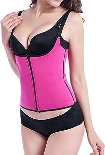 DREAM SLIM-Women Waist Trainer for Weight Loss Body Shaper Zipper Waist Cincher Bustier Tank Top with Adjustable Straps