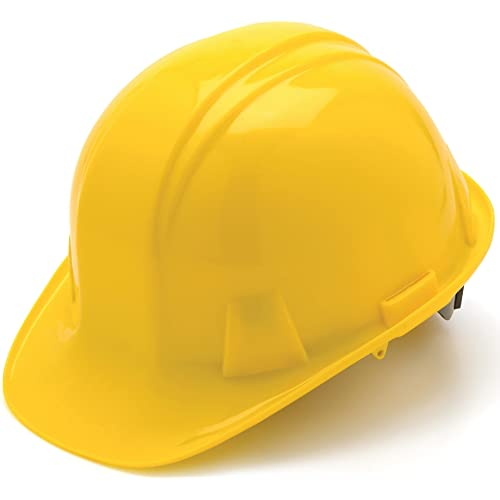 Pyramex Safety Products HP14030 Sl Series 4 pt. Snap Lock Suspension Hard Hat, Yellow