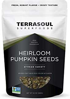 Terrasoul Superfoods Organic Heirloom Pumpkin Seeds, 1.5 Lbs - Sourced from Europe | Keto | Raw | Unsalted