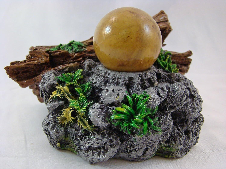Rollin' Rocks PolyResin Water Powered Aquarium Ornament  Small Log & Rock