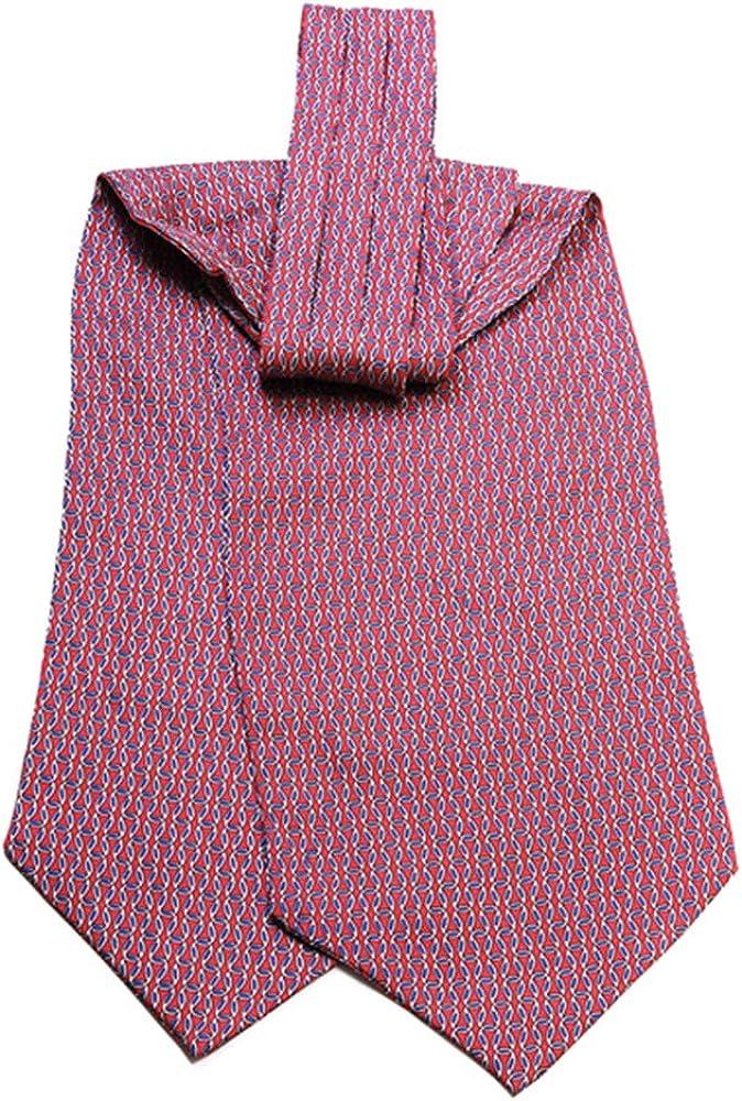 Jacob Alexander Men's Silk Interlocking Links Pattern Cravat Ascot Neck Tie
