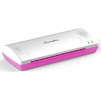 Swingline Laminator, Thermal, Inspire Plus Lamination Machine, 9 inches Max Width, Quick Warm-Up, Includes Laminating Pouches, White / Pink (1701865ECR)