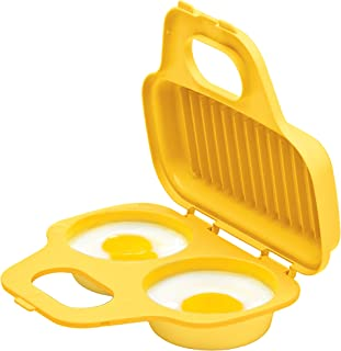 Prep Solutions by Progressive Microwave Egg Poacher, Yellow PS-71Y Easy-To-Use, Low-Calorie Breakfasts, Lunches And Dinner, Dishwasher Safe