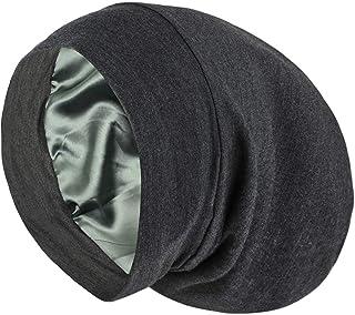 محصولات Alexander Alexander Satin Lined Sap Cap Slouchy Beanie Slap کلاه مخصوص دختران فرفری طبیعی و کلاه موی وز موی خاکستری
