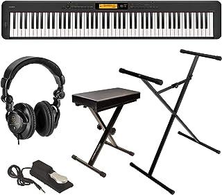 Casio CDP-S350 88-Key Compact Digital Piano (Black), Bundle