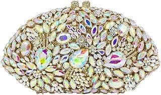 TWTAI Women's Diamond Luxury Rhinestone Crystal Cutout Pu Banquet Party Evening Bag Wedding Bride Bridesmaid Dress Festival Clutches Bags Chain Shoulder Tote Wallet (Color : Gold)