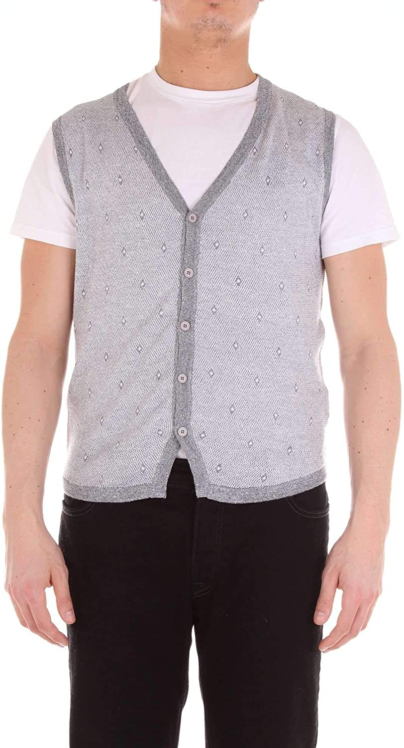 HERITAGE Men's 0207K04GREY Grey Cotton Vest