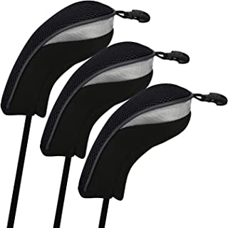 HDE Universal Golf Club Head Covers Replacement Driver Fairway Wood Covers (Set of 3)