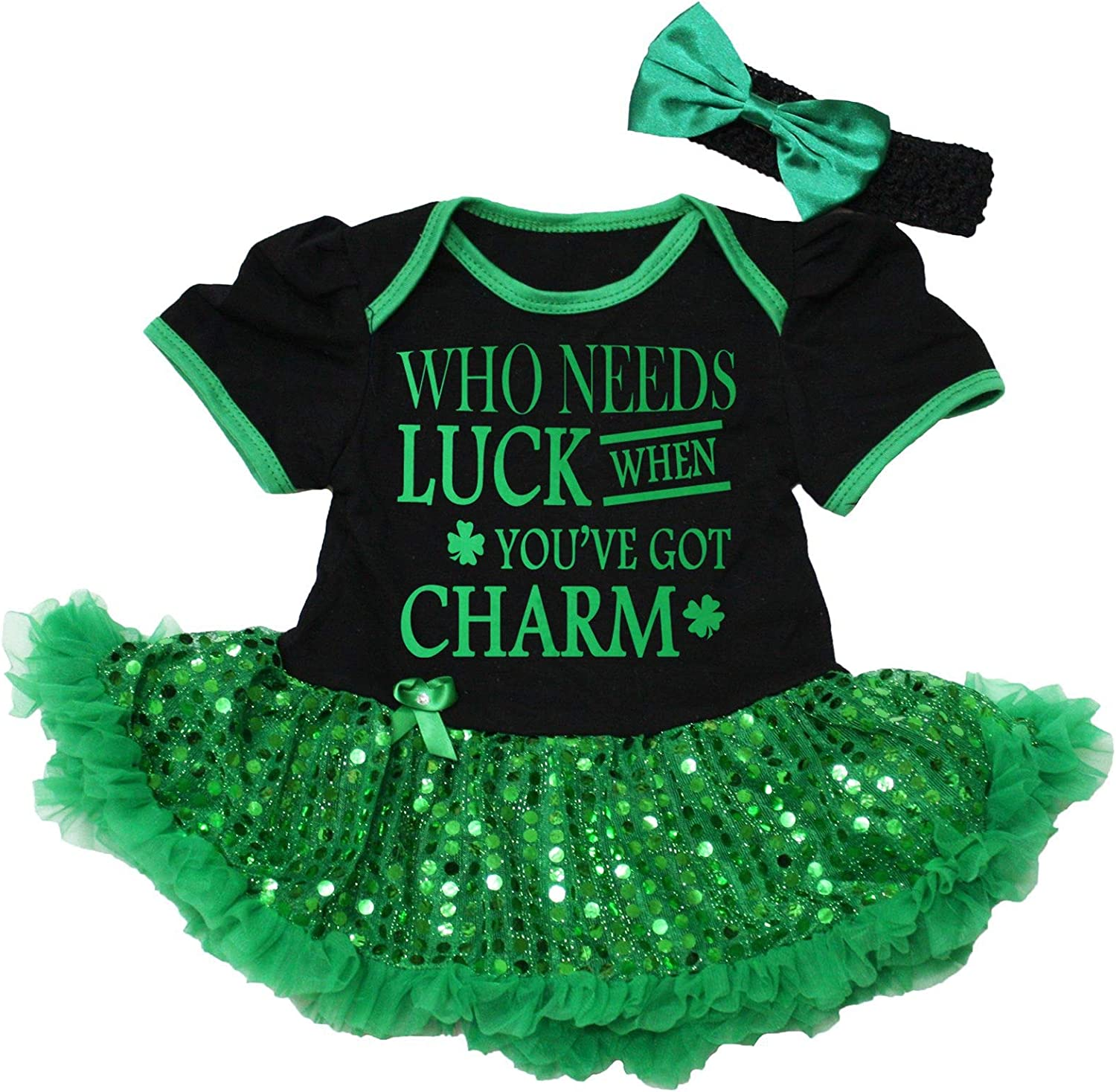 lowest price Petitebella Who Needs Popular brand in the world Luck When You're Charm Baby Got Nb-1 Dress
