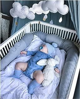 LOAOL Crocodile Baby Braid Crib Bumper Animal Nursery Cradle Decor Newborn Gift Kids Pillow Cushio(Gray)
