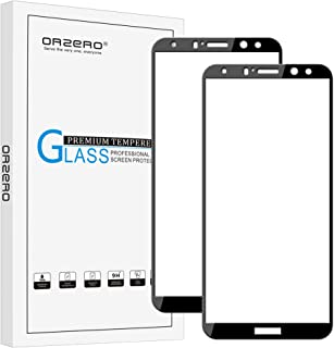 (2 Pack) Orzero Compatible for Huawei Mate 10 Lite (Not for Mate 10 Pro) Tempered Glass Screen Protector, 2.5D Arc Edges 9 Hardness HD Anti-Scratch Full-Coverage (Lifetime Replacement Warranty)