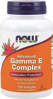 NOW Supplements, Advanced Gamma E Complex, Mixed Tocopherols & Tocotrienols, Antioxidant Protection*, 120 Softgels