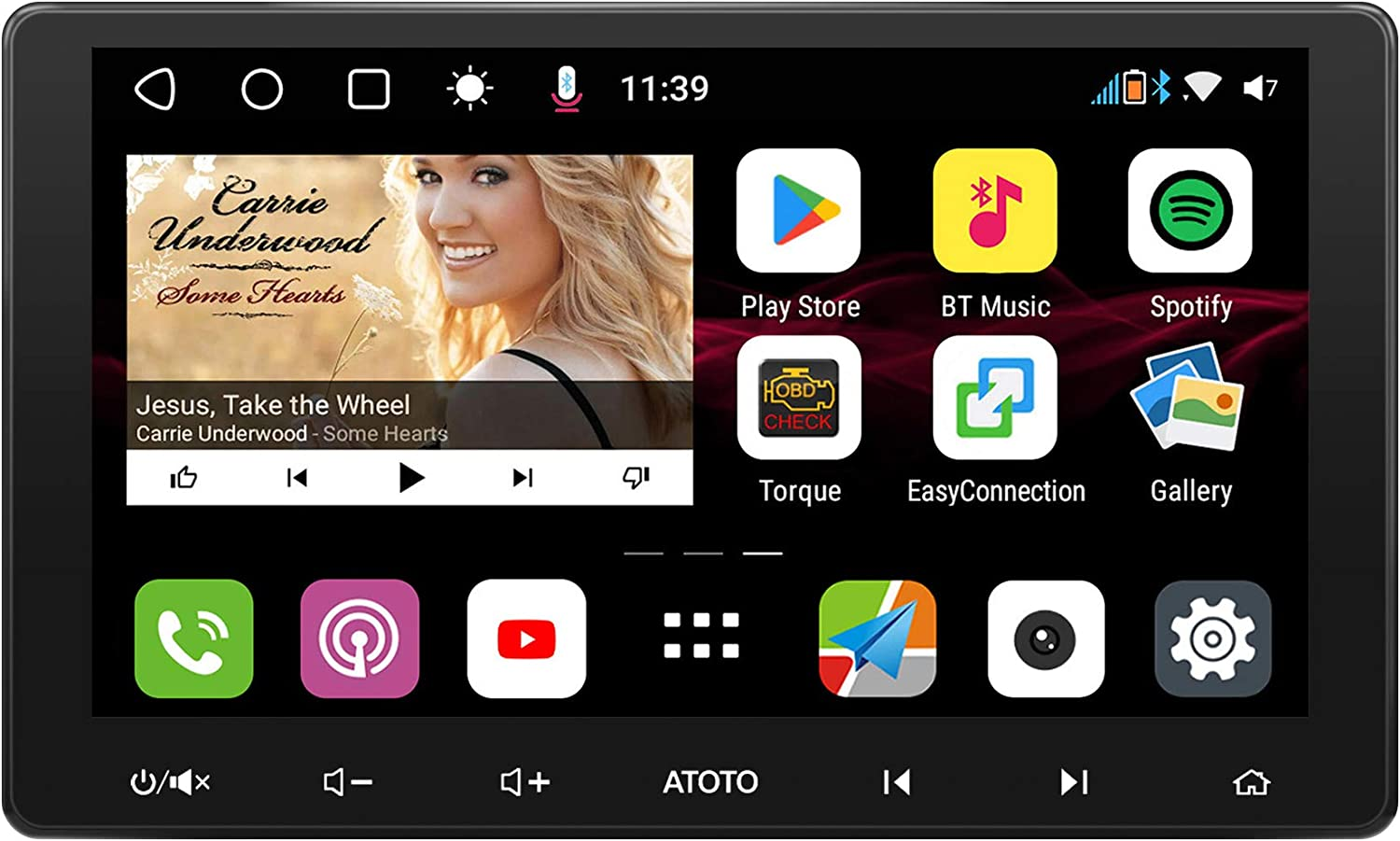 IAH10D//QLED Display ATOTO S8 Gen2 Andriod Car in-Dash Navigation,Premium//S8G2114PM,USB Tethering,Dual Bluetooth w//aptX HD,Android Auto /& CarPlay,HD VSV Parking with LRV,SCVC and More