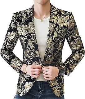 Men's Golden Single Breasted 2 Button Sport Coat