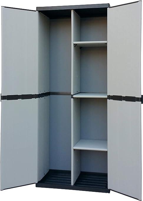 Buyly Armadio Portascope Alto A 2 Ante Per Interno Esterno Con Ripiani Regolabili In Altezza 68 X 39 5 X 168 Cm Amazon It Giardino E Giardinaggio