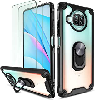 QHOHQ Hoesje voor Xiaomi Mi 10T Lite 5G met 2 Pack Screen Protector, [Gepatenteerd ontwerp] [360 ° roterende standaard] [M...