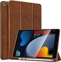 MoKo Case Fit New iPad 9th Generation 2021 / 8th Gen 2020 / 7th Gen 2019 with Apple Pencil Holder, iPad 10.2 Case, Slim Li...